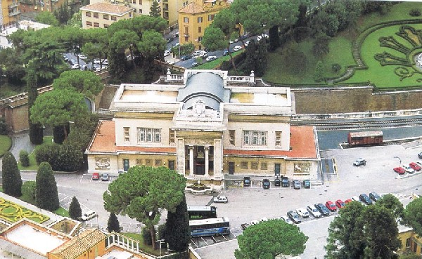 The Vatican station building